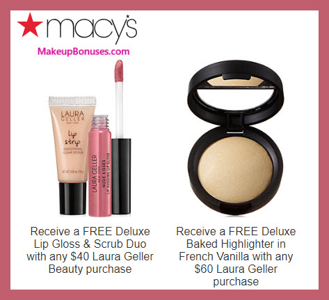Receive a free 3-pc gift with $60 Laura Geller purchase #macys