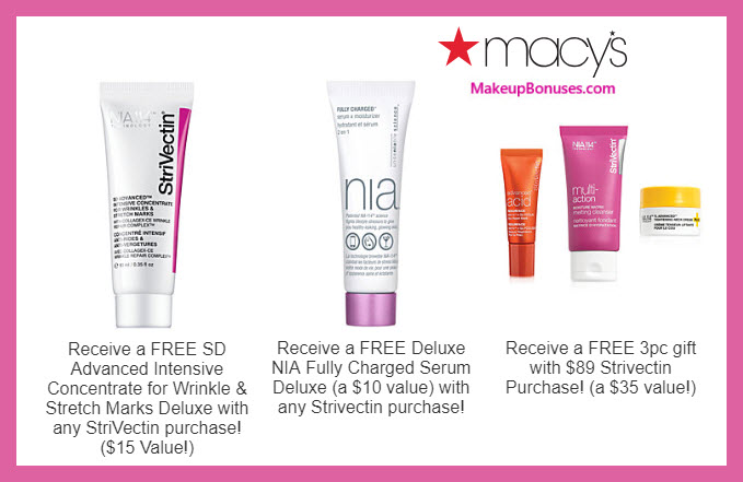 Receive a free 5-pc gift with $89 StriVectin purchase #macys