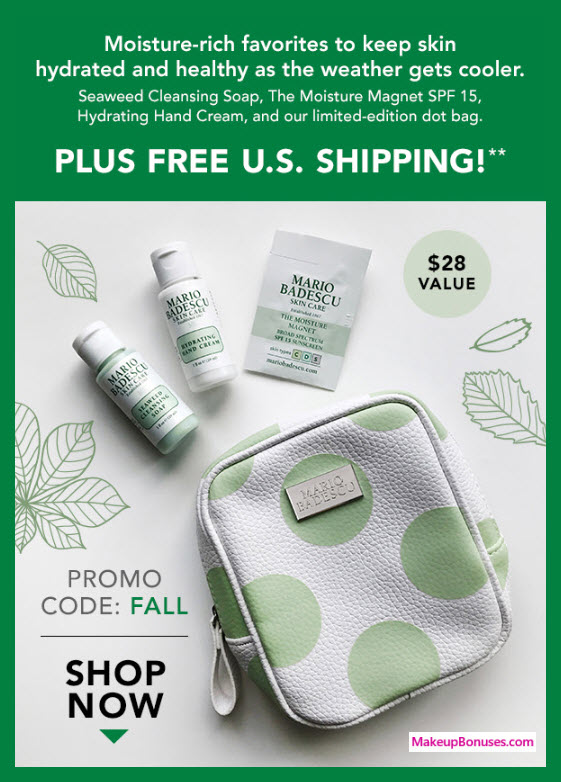 Receive a free 4-pc gift with $40 Mario Badescu purchase #MarioBadescu