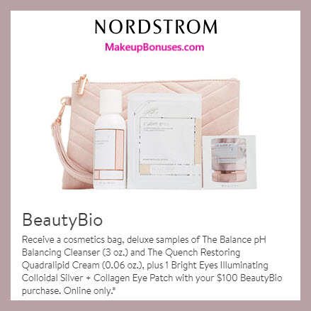 Receive a free 4-pc gift with $100 Beauty Bioscience purchase #nordstrom
