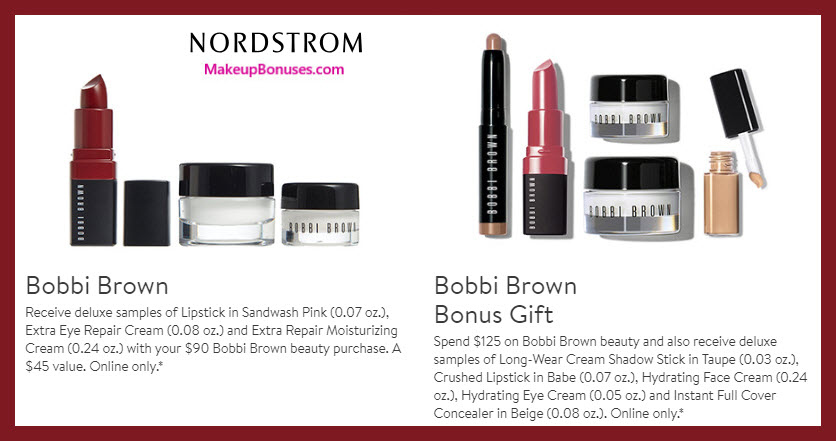 Receive a free 3-pc gift with $90 Bobbi Brown purchase #nordstrom