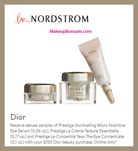 Receive a free 3-pc gift with $150 Dior Beauty purchase #nordstrom