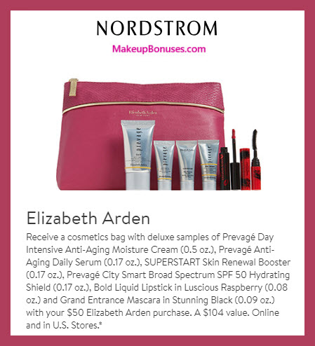 Receive a free 7-pc gift with $50 Elizabeth Arden purchase #nordstrom