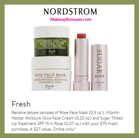 Receive a free 3-pc gift with $75 Fresh purchase #nordstrom