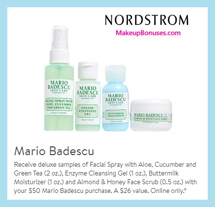 Receive a free 4-pc gift with $50 Mario Badescu purchase #nordstrom