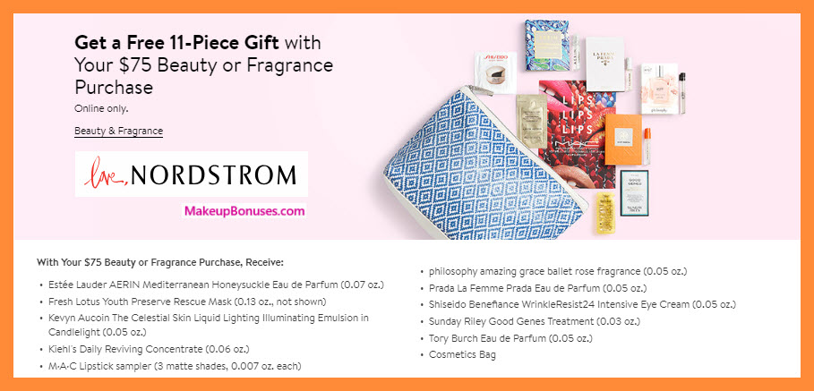 Receive a free 11-pc gift with $75 Multi-Brand purchase #nordstrom
