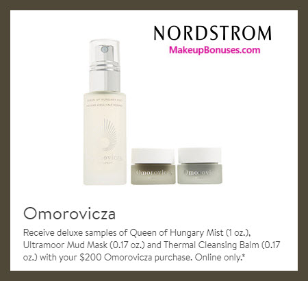 Receive a free 3-pc gift with $200 Omorovicza purchase #nordstrom