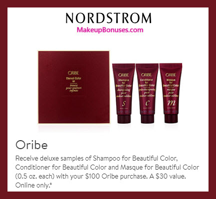 Receive a free 3-pc gift with $100 Oribe purchase #nordstrom