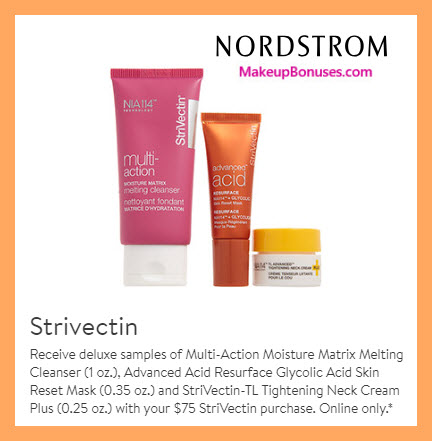 Receive a free 3-pc gift with $75 StriVectin purchase #nordstrom