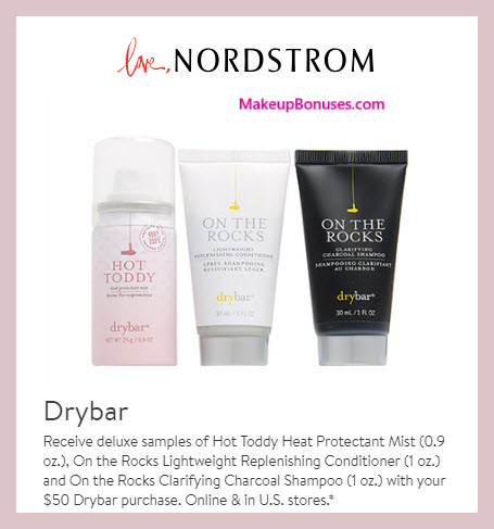 Receive a free 3-pc gift with $50 drybar purchase #nordstrom