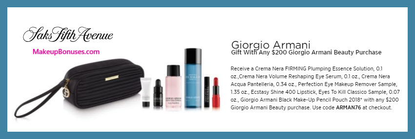 Receive a free 7-pc gift with $200 Giorgio Armani purchase #saks