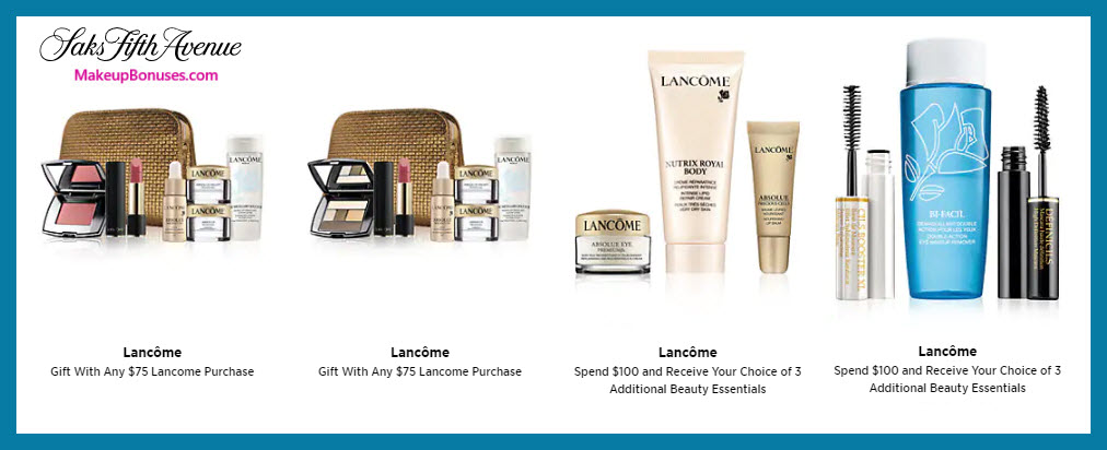 Receive your choice of 7-pc gift with $75 Lancôme purchase #saks