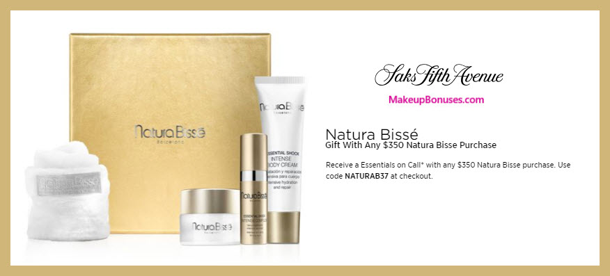 Receive a free 4-pc gift with $350 Natura Bissé purchase #saks