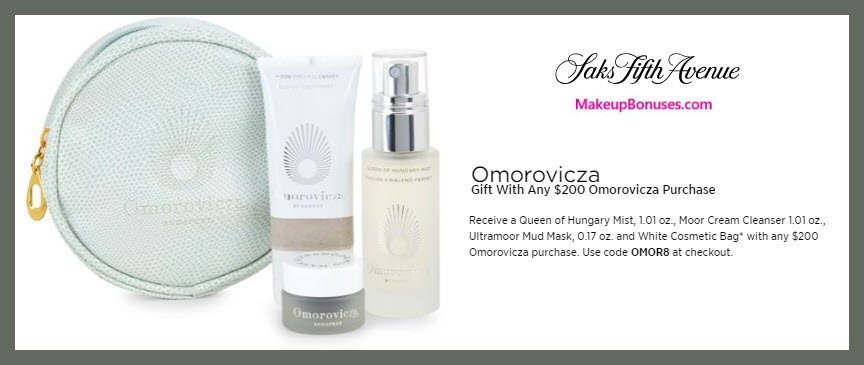 Receive a free 4-pc gift with $200 Omorovicza purchase #saks