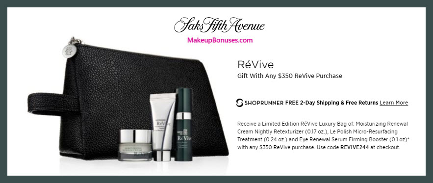 Receive a free 4-pc gift with $350 RéVive purchase #saks