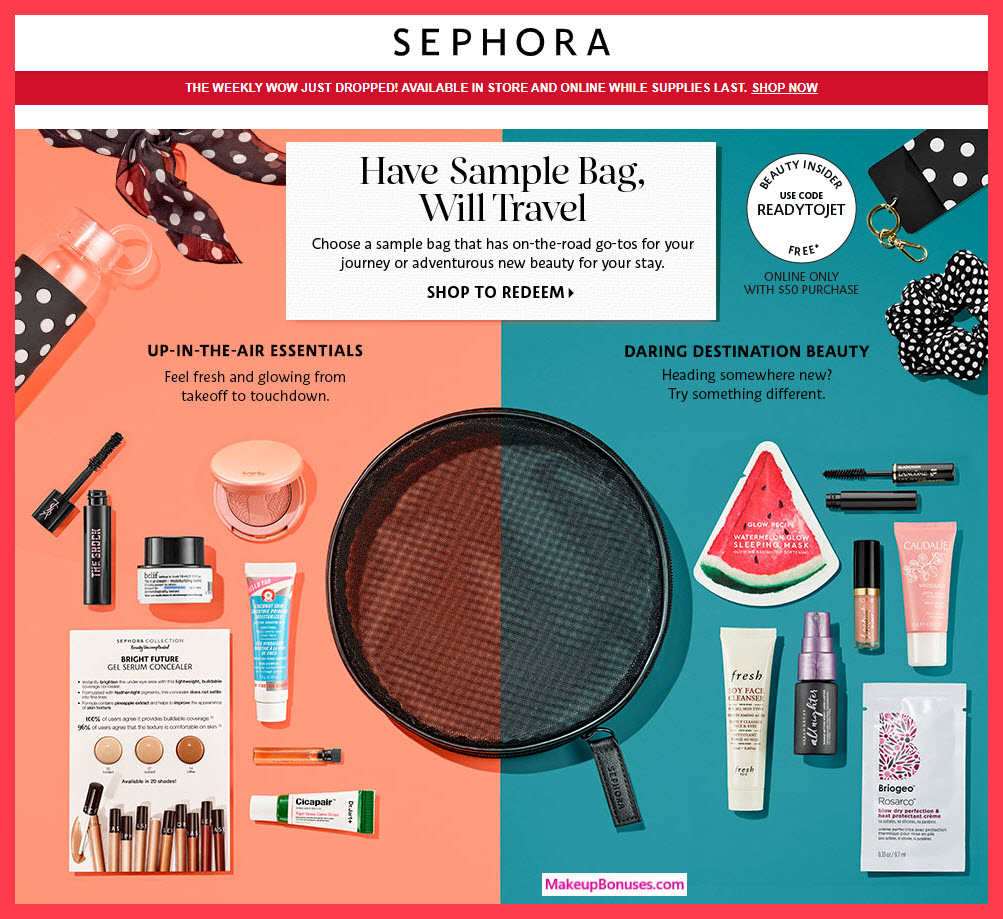 Receive your choice of 7-pc gift with $50 Multi-Brand purchase #sephora
