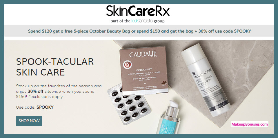 Receive a free 5-pc gift with $120 Multi-Brand purchase #SkinCareRx1