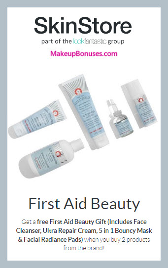Receive a free 4-pc gift with 2+ products purchase #SkinStore