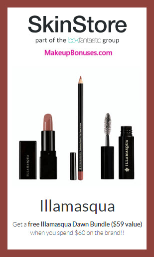 Receive a free 3-pc gift with $60 Illamasqua purchase #SkinStore