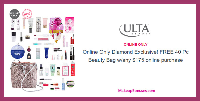Receive a free 40-pc gift with $175 Diamond Exclusive (Diamond members only) purchase #ultabeauty