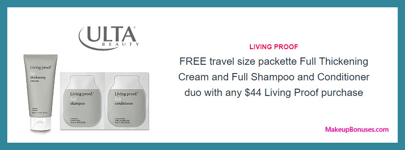 Receive a free 3-pc gift with $44 Living Proof purchase #ultabeauty