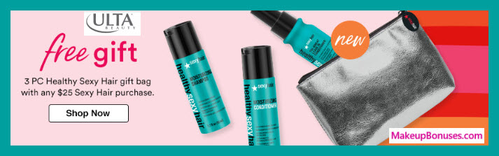 Receive a free 4-pc gift with $25 Sexy Hair purchase #ultabeauty