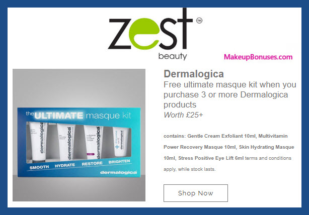 Receive a free 4-pc gift with 3+ products purchase #ZestBeauty
