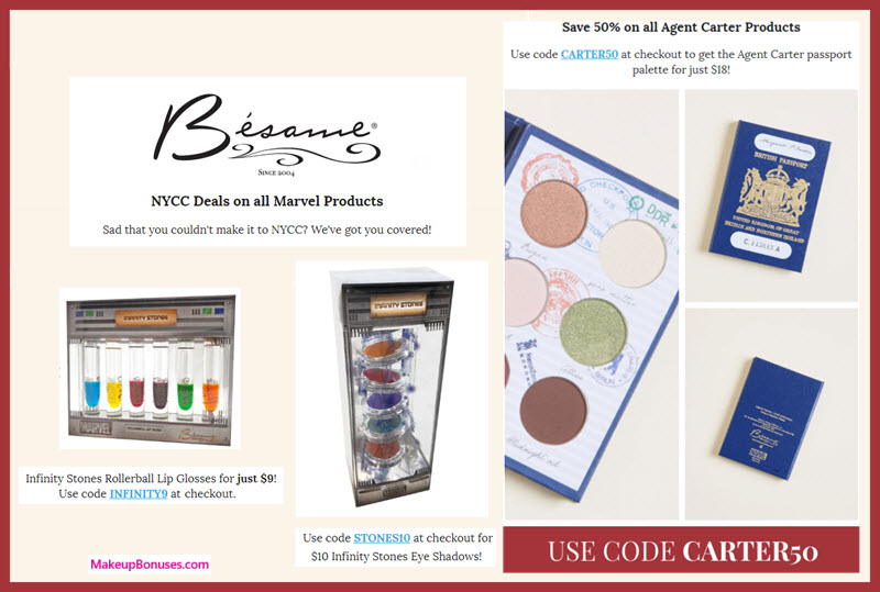 Besame Cosmetics Sale - MakeupBonuses.com