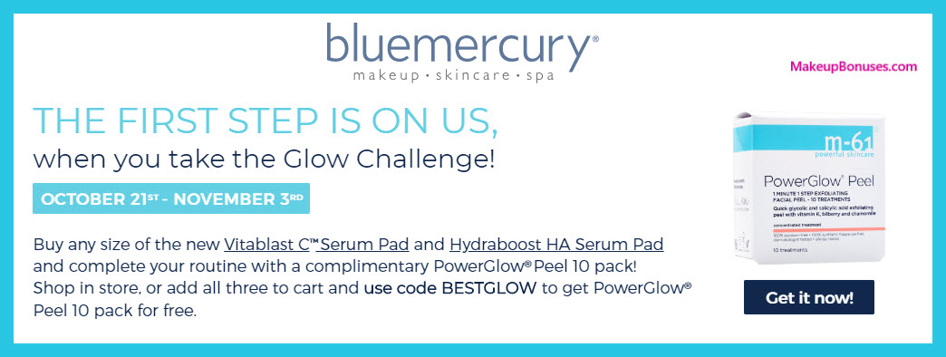 Receive a free 10-pc gift with Vitablast C Serum Pad + Hydraboost HA Serum Pad purchase #bluemercury
