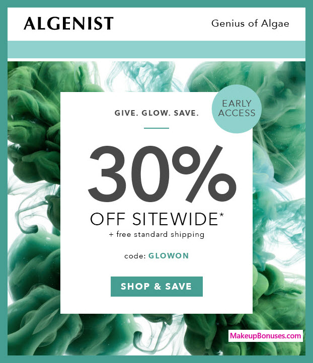 Algenist Sale - MakeupBonuses.com