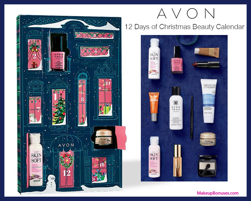12 Days of Christmas Beauty Calendar - MakeupBonuses.com #Avon #AvonInsider