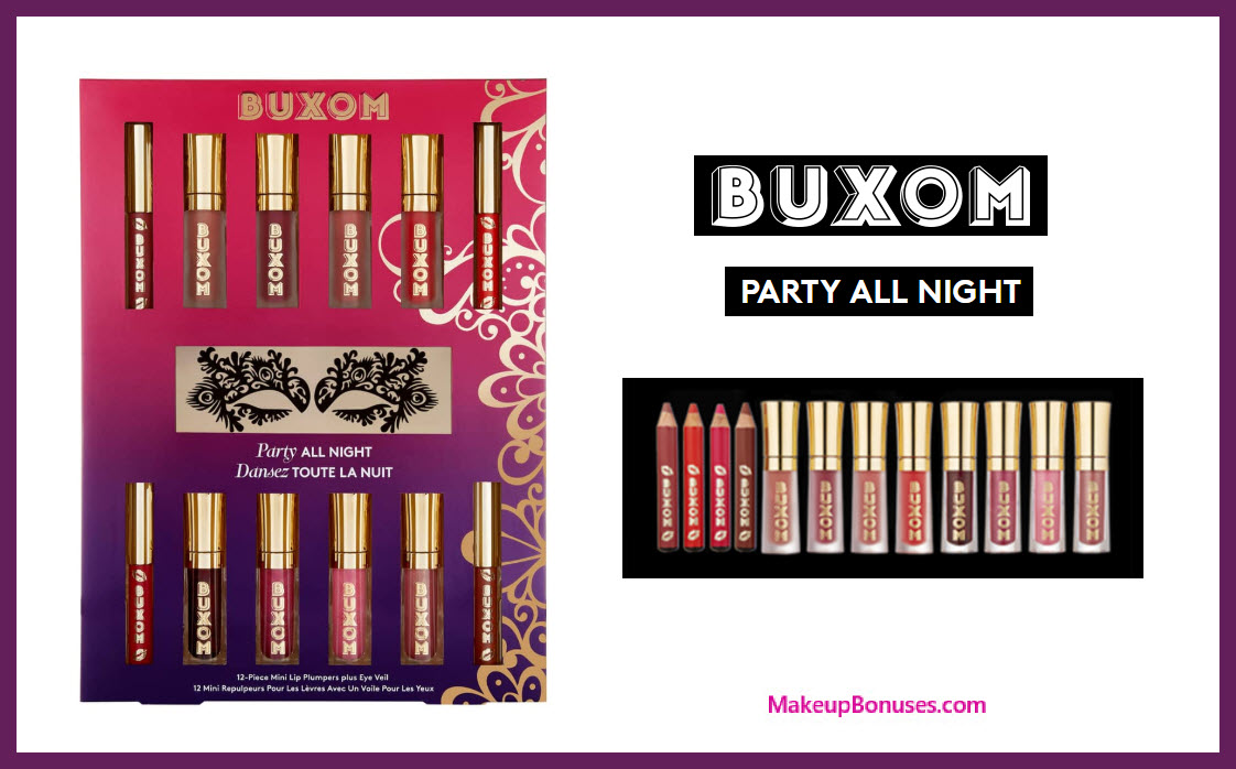 BUXOM Party All Night Mini Lip Plumping Vault - MakeupBonuses.com #BuxomCosmetics #sephora