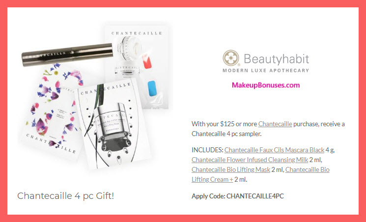 Receive a free 4-pc gift with $125 Chantecaille purchase #beautyhabit