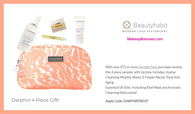 Receive a free 5-pc gift with $75 Darphin purchase #beautyhabit