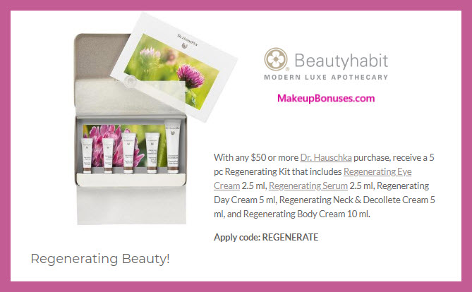 Receive a free 5-pc gift with $50 Dr Hauschka purchase #beautyhabit