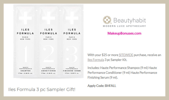 Receive a free 3-pc gift with $25 Multi-Brand purchase #beautyhabit