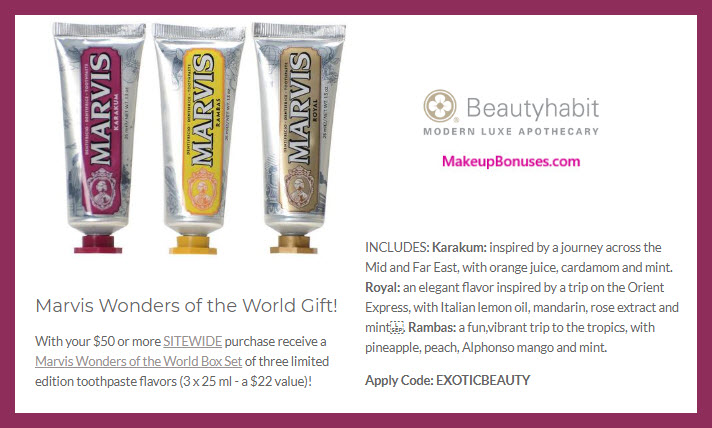 Receive a free 3-pc gift with $50 Multi-Brand purchase #beautyhabit