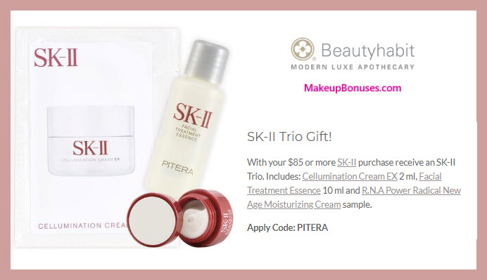 Receive a free 3-pc gift with $85 SK-II purchase #beautyhabit