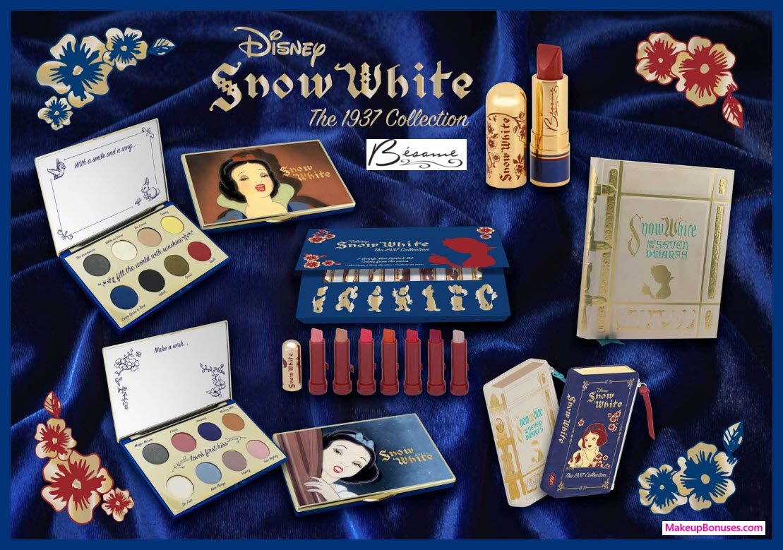 Besame Cosmetics Snow White Collection - MakeupBonuses.com #BesameCosmetics