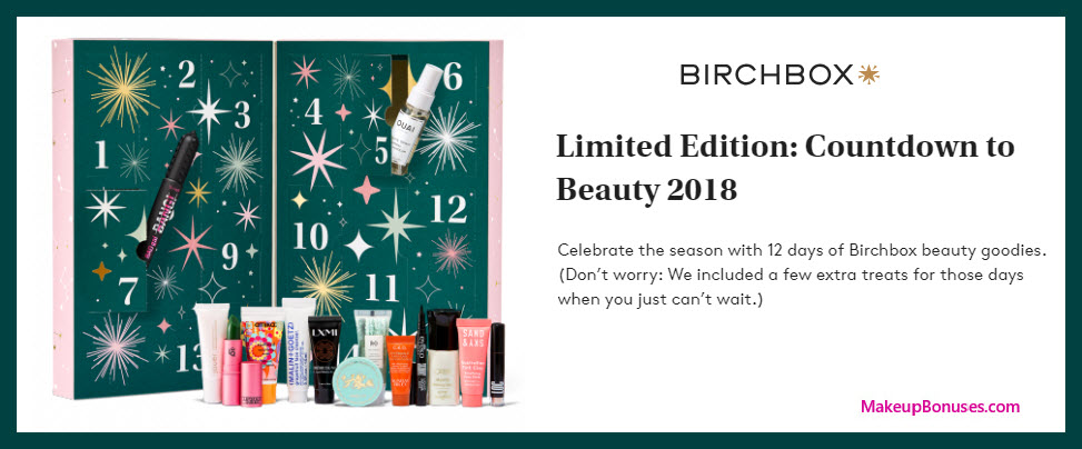 Countdown to Beauty 2018 - MakeupBonuses.com #Birchbox