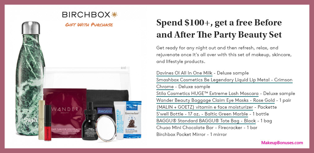 Receive A Free 9 Pc Gift With 100 Multi Brand Purchase Birchbox