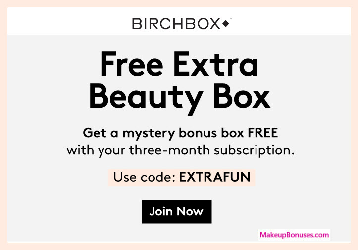 Receive a free 5-pc gift with 3 month recurring subscription purchase #Birchbox