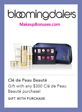 Receive a free 6-pc gift with $300 Clé de Peau Beauté purchase #bloomingdales