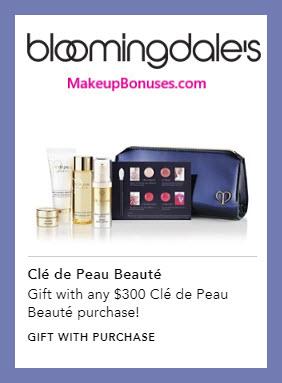 Receive a free 6-pc gift with $300 Clé de Peau Beauté purchase #bloomingdales