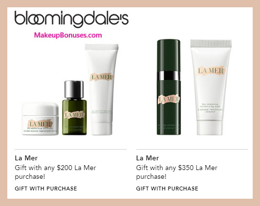 Receive a free 3-pc gift with $200 La Mer purchase #bloomingdales