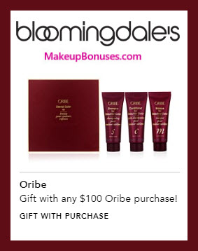 Receive a free 3-pc gift with $100 Oribe purchase #bloomingdales