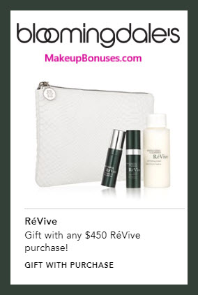 Receive a free 4-pc gift with $450 RéVive purchase #bloomingdales