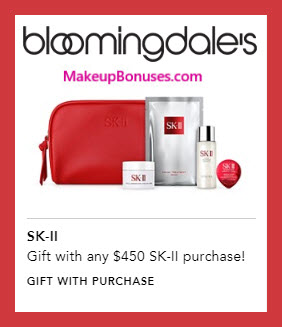 Receive a free 5-pc gift with $450 SK-II purchase #bloomingdales