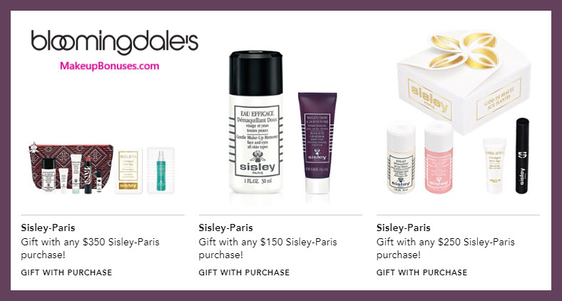 Receive a free 6-pc gift with $250 Sisley Paris purchase #bloomingdales