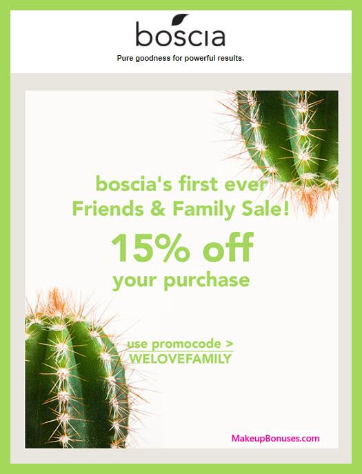Boscia Sale - MakeupBonuses.com